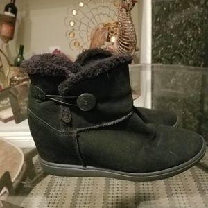 Skechers booties, inside wedge.